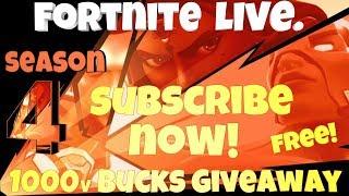 Fortnite Live - NOUVEAU Gamemode INFINITY GAUNLET 1000v BUCKS GIVEAWAY 1k SUBSCIRIBERS!