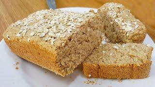 Pão Fofinho Sem Trigo Com Poucos Ingredientes