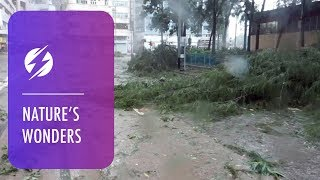 Aftermath Of Streets After Typhoon Mangkhut