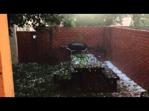 Hail in Pretoria east 28 November 2013