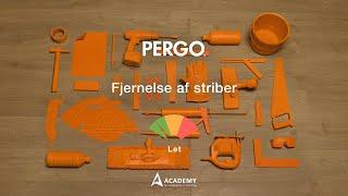Vedligeholdelse laminatgulv: fjernelse af striber