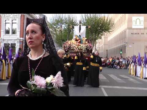 Solemnidad en la procesión del Santo Entierro de Albacete