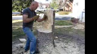 All Natural Lawn Furniture, Chainsaw Art
