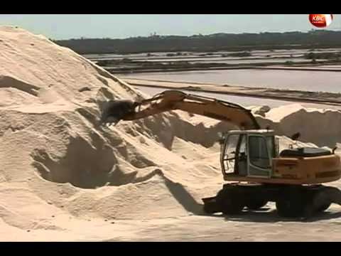 Salt mining in Kilifi county