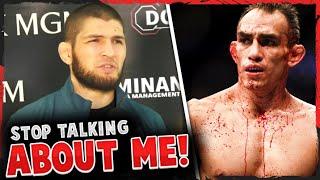 Khabib reacts to Tony Ferguson going OFF on him on UFC 249 media call, Dana White on Conor vs Jorge