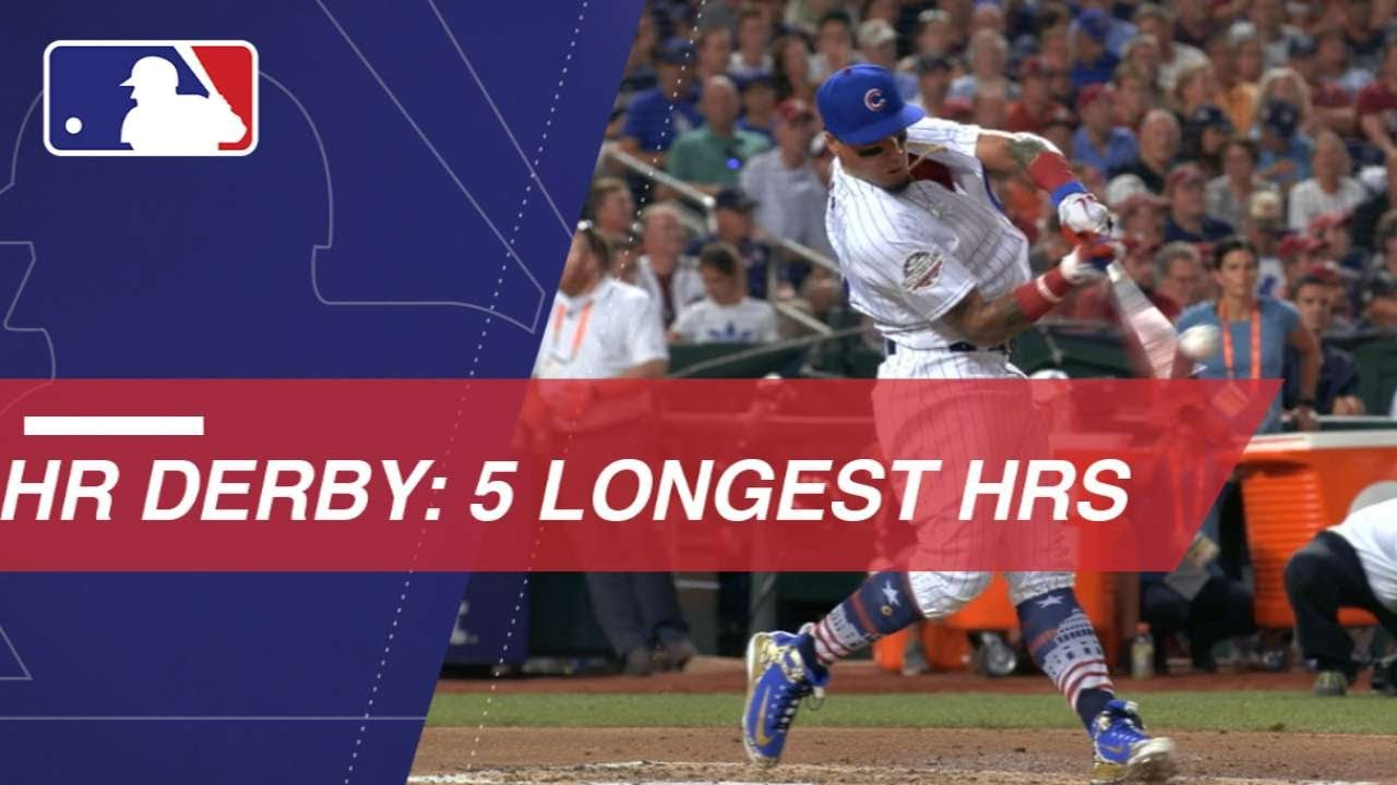 Watch The Five Longest Homers Of The  Home Run Derby
