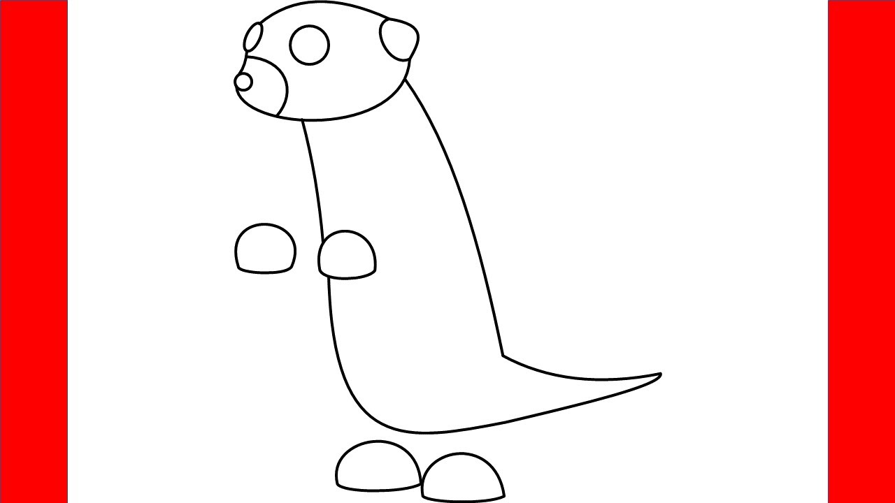 How To Draw Meerkat From Roblox Adopt Me - Step By Step ...