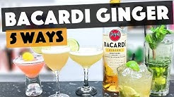 Bacardi Rum Drinks | 5 SIMPLE and TASTY Bacardi Ginger Rum Cocktails