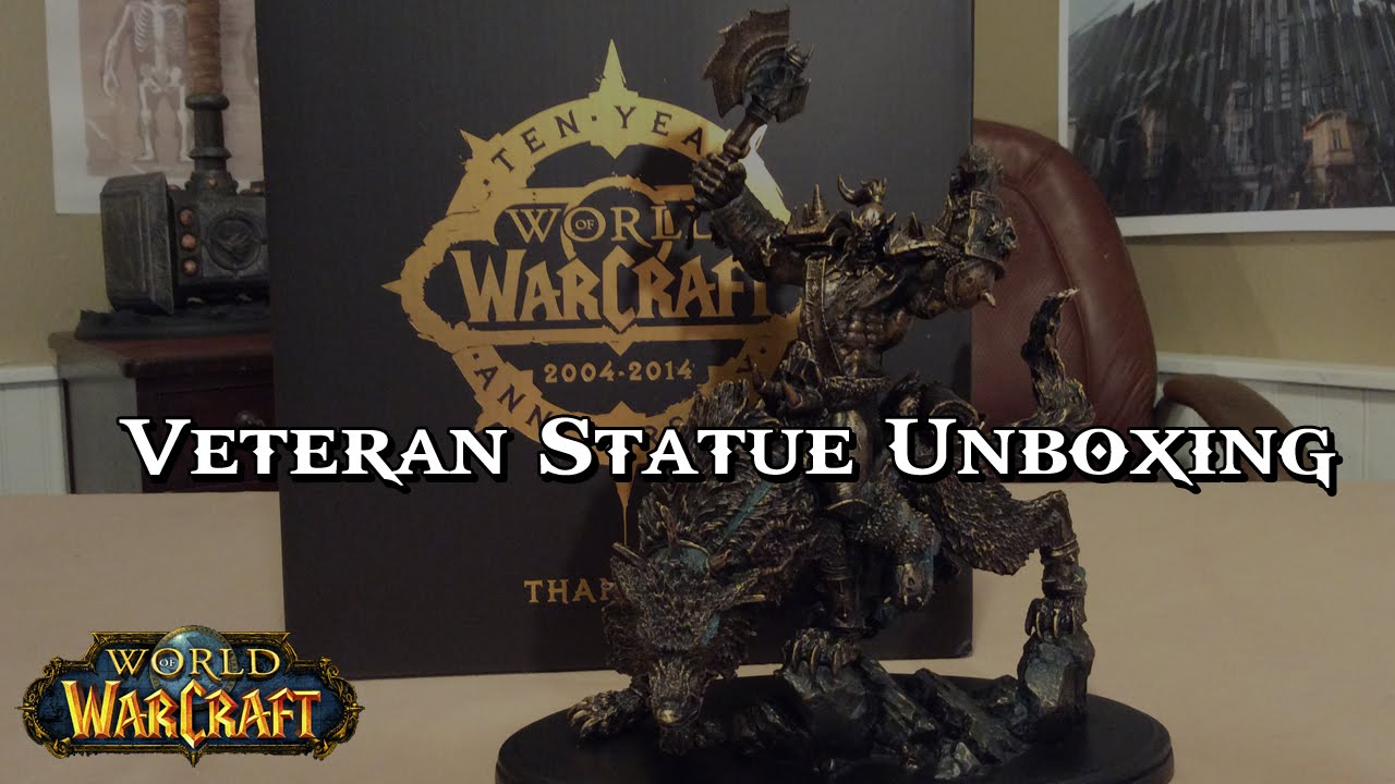 World of Warcraft 10 Year Veteran Statue Unboxing
