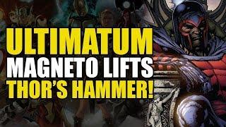 Magneto Lifts Thor's Hammer (Marvel Ultimatum Part 1)