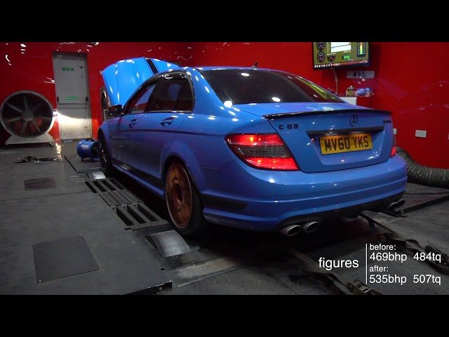 Beautiful blue c63 came in for a map !