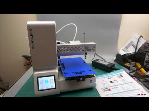 Geeetech E180 Mini 3D Printer review and tests