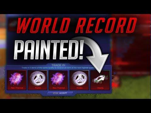 WORLD RECORD - *INSANE* 'PAINTED' Import Trade Up! | 50 KEYS+ | Rocket League