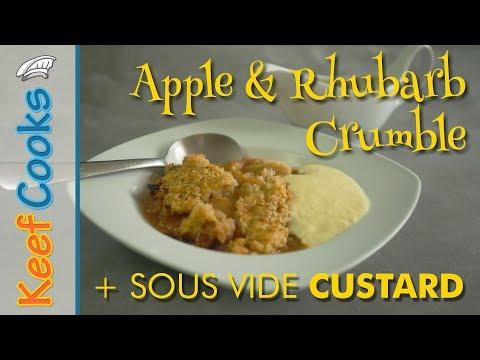Apple and Rhubarb Crumble with Custard | Sous Vide Custard
