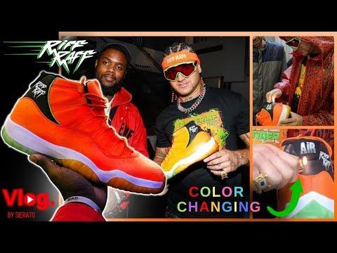 COLOR CHANGING Tangerine Tiger Jordans I make and deliver to RiFF RaFF | Vlog Mp3