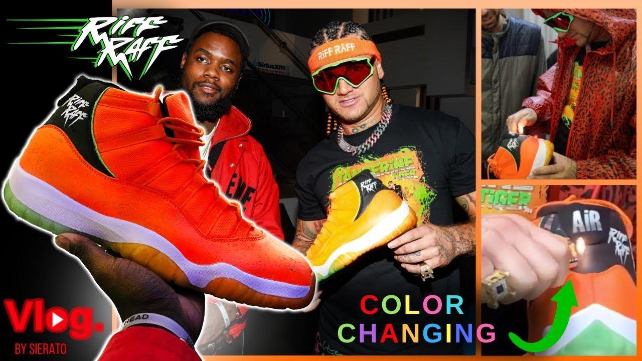 87b061784e8f63 COLOR CHANGING Tangerine Tiger Jordans I make and deliver to RiFF RaFF