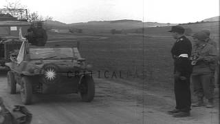 Final Days Of World War II In Europe. German Commanders Commence Surrender Activi...HD Stock Footage