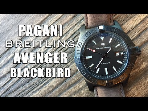"""Another Pretty Rip-Off! Pagani Design """"Avenger Blackbird"""" 48mm Review (1627M) - Perth WAtch #136"""