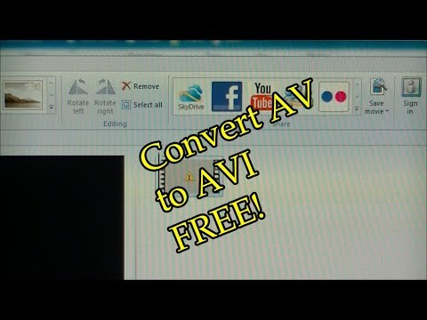 How to Convert AV file to AVI Free