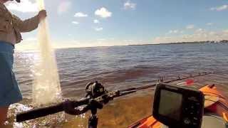Kayak Fishing, Stuart, FL - livelining finger mullet