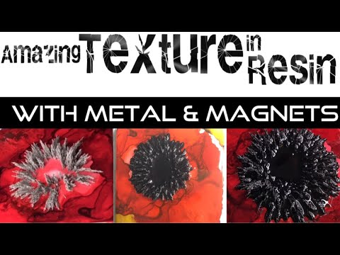 How to create texture in resin with metal and magnets!