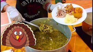 В США - ЧТО АМЕРИКАНЦЫ ЕДЯТ?  ТАРЕЛКА В ДЕНь БЛАГОДАРЕНИЯ. Типичная еда на праздник.