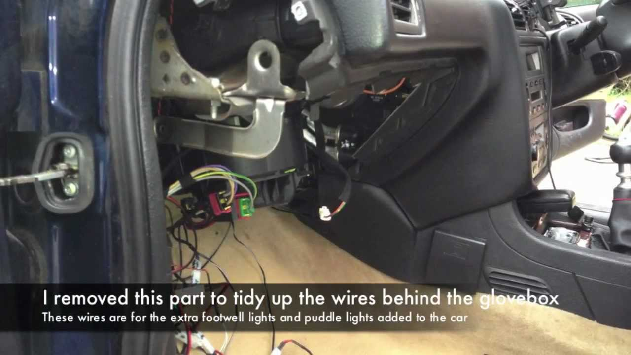 Glovebox Removal  Peugeot 406  YouTube