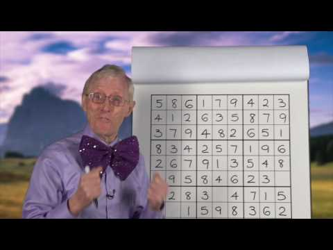Lesson 12.  Sudoku For The Young. Your first real Sudoku Puzzle.