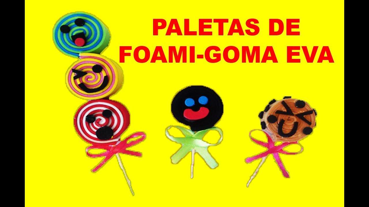 5c9f11603 PALETAS DE FOAMI/GOMA EVA (Payaso,Galleta,Triple) by Miauñeca