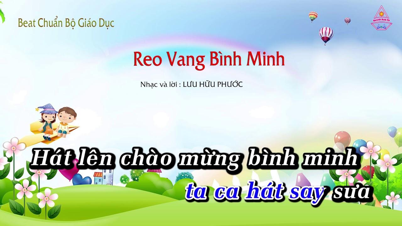 | Karaoke HD | REO VANG BÌNH MINH – Âm Nhạc Lớp 5 || CD Chuẩn Bộ Giáo Dục