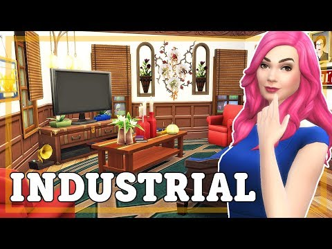 The Sims 4 Speed Build - Industrial Warehouse Converted to Family Home with Greenhouse Garden Collab