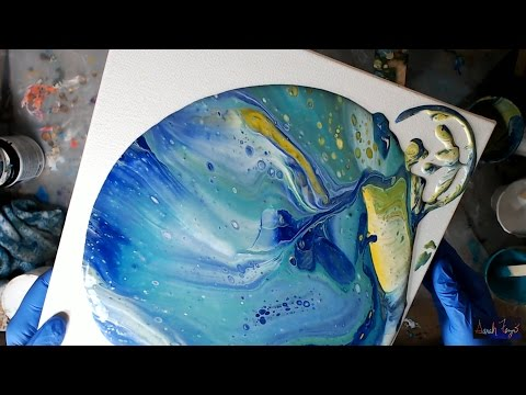 Acrylic Pouring with Behr 100% acrylic house paint & artist paint :-)