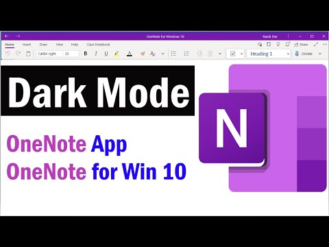 How to Turn Dark Mode On or Off in OneNote | Enable Dark Mode in OneNote App and OneNote for wind 10