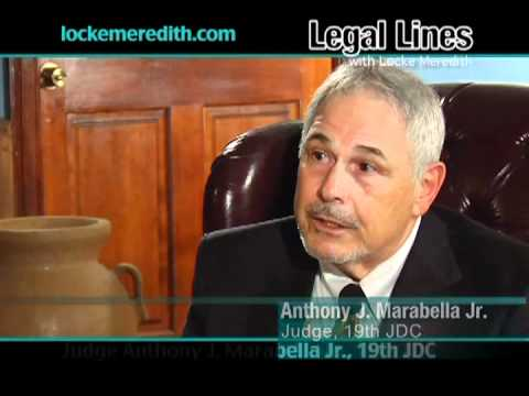Judge Anthony Marabella discusses Baton Rouge Drug Court on Legal Lines with Locke Meredith
