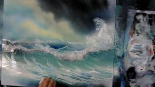 how to spray paint a wave speed painting spray paint art secrets lesson
