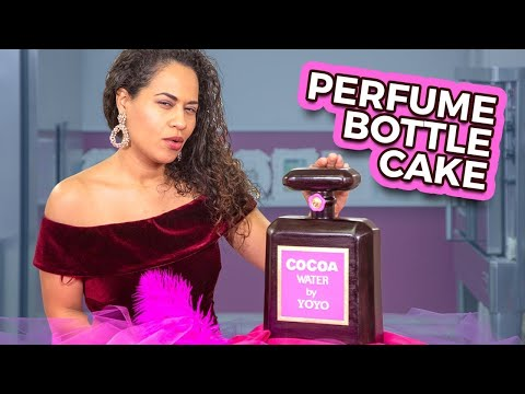 Perfume Bottle CAKE  Valentine&39;s Cake Ideas  How To Cake It