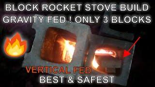 ! Best Block Rocket Stove EZ DIY BBQ !