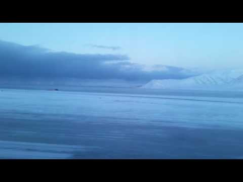 Take off from Longyearbyen airport 17.02.2017