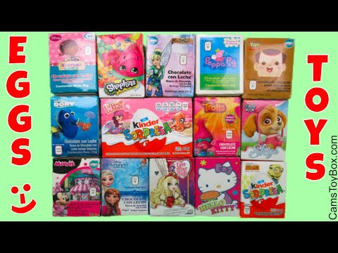 Chocolate Surprise Eggs Kinder Paw Patrol Hello Kitty Shopkins Peppa Pig Finding Dory Toy Story