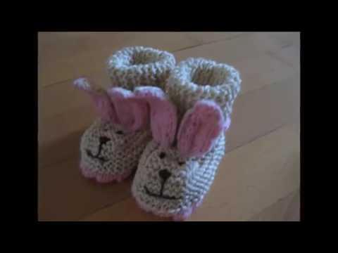 Zapatitos De Conejito En Crochet - YouTube