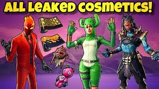*NEW* ALL LEAKED SKINS, EMOTES, WRAPS & MORE In Fortnite BR! (Fortnite Update 8.2 Leaks)