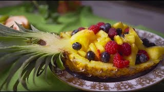 Красивая фруктовая нарезка. 3 способа оформить блюда