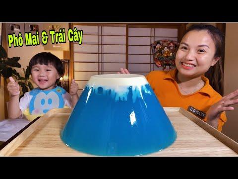 Fuji Jelly-Thạch Rau Câu Trái Cây Núi Phú Sĩ Phủ Phô Mai Tuyết Siêu To Khổng Lồ #592