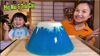 Fuji Jelly-Thạch Rau Câu Trái Cây Núi Phú Sĩ Phủ Phô Mai Tuyết Siêu To Khổng Lồ #591