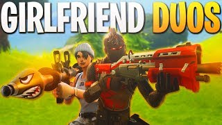 Crazy Start! - GIRLFRIEND DUOS! - PS4 Fortnite Gameplay! (PS4 Fortnite BR Duos Victory Royale)