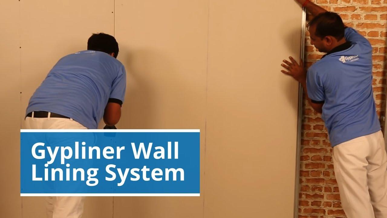 Gypliner Wall Lining Gyproc Drywall System Youtube