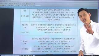 [긴급] 기사1,2회 통합시험 종목별 시험시간안내. 날…