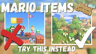 How To Use Tнe Mario Items On YOUR Island | Animal Crossing New Horizons