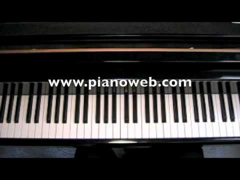How to play Fly Me To The Moon on piano | FunnyDog.TV