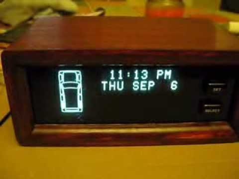 Jeep Cherokee Xj >> Custom digital clock from wood and Jeep VIC - YouTube